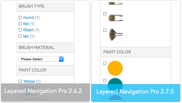 Layered navigation magento