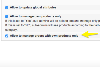 Allowing to manage Orders