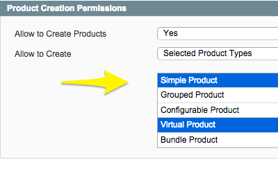 Using Product Creation Permissions