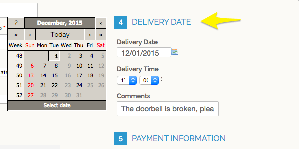 Delivery date Magento extension