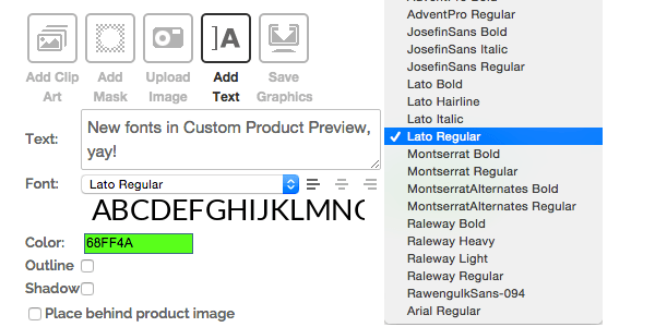 New fonts CPP