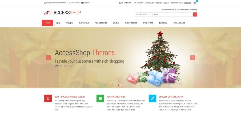 Access Shop Lite Magento theme