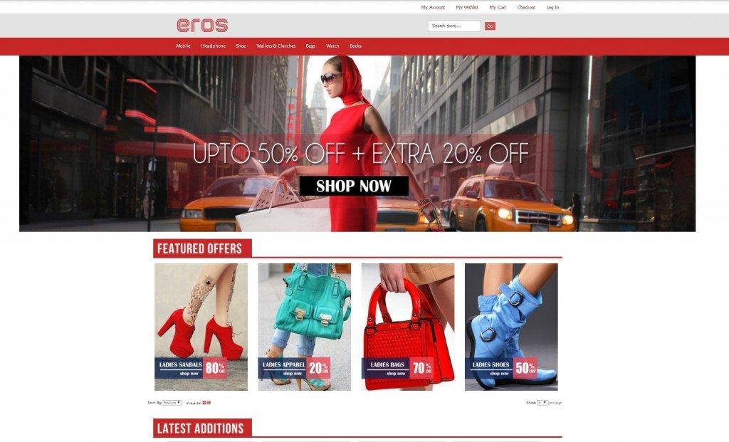 Eros Magento theme review