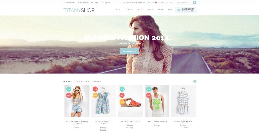 Titany free Magento theme comparison