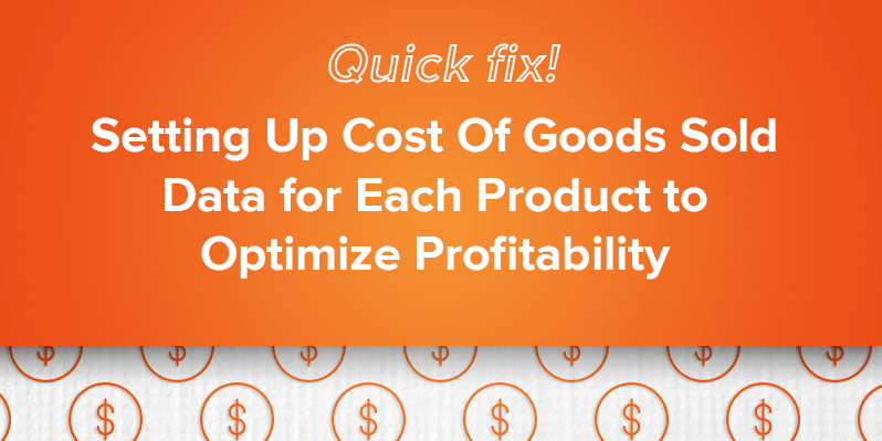 set up cost of goods in magento