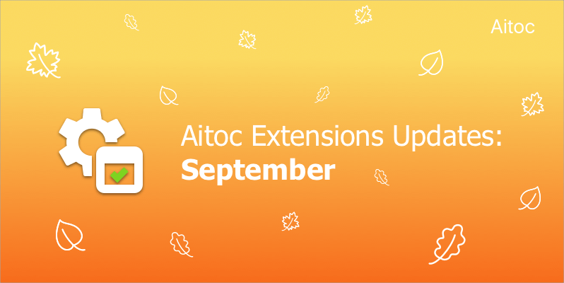 September Extensions Update