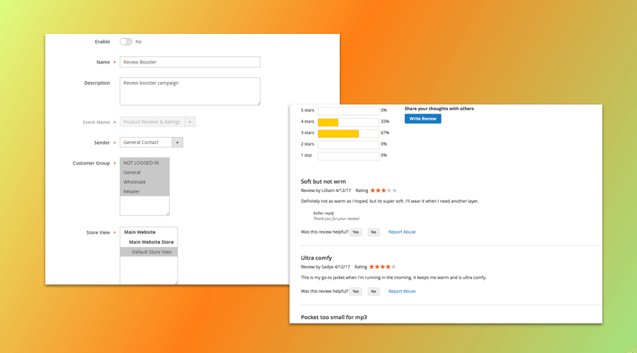 Magento 2 Product Reviews & Ratings Extension