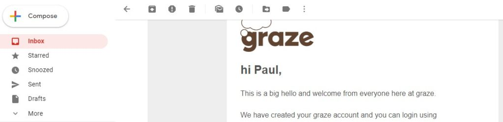 creating welcome emails