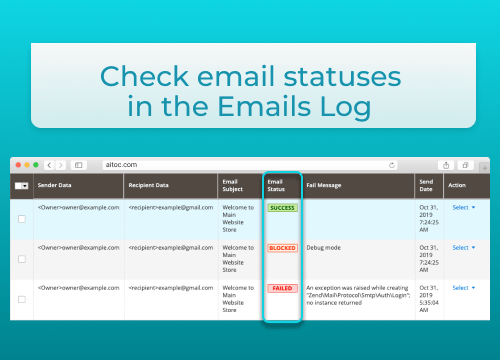 Email Log with Maximum Control
