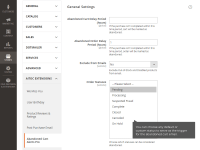 Abandoned Cart Emails general settings