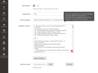 Abandoned Cart extension for Magento 2 enterprise: Emails email settings