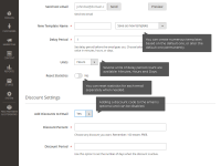 Abandoned Cart Emails plugin for Magento 2 enterprise: discount settings