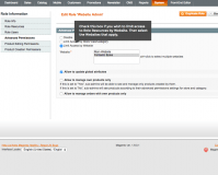Panel access to Magento restrictions