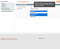 Block access to Magento admin panel per category