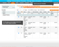Assigned Products: Magento Custom Product Options Templates module