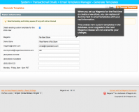 Magento E-mail templates Manager