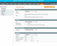 Magento Orders Export and Import extension