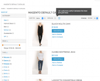 Magento Navigation quick filter