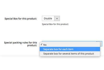 Pack each unit of a product individually or use a separate box for several items of one type of a product