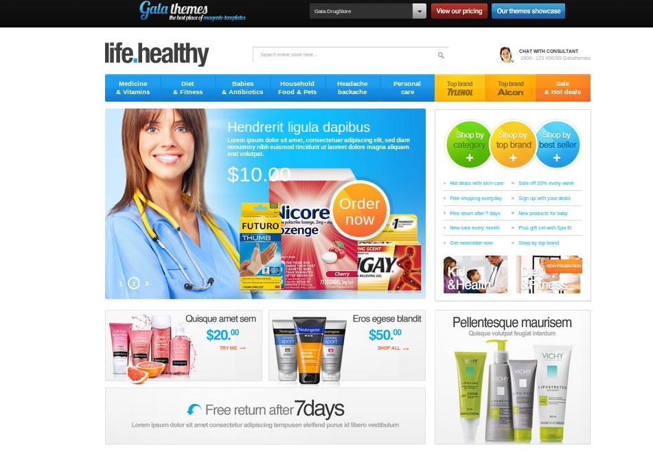 Drug Store Template